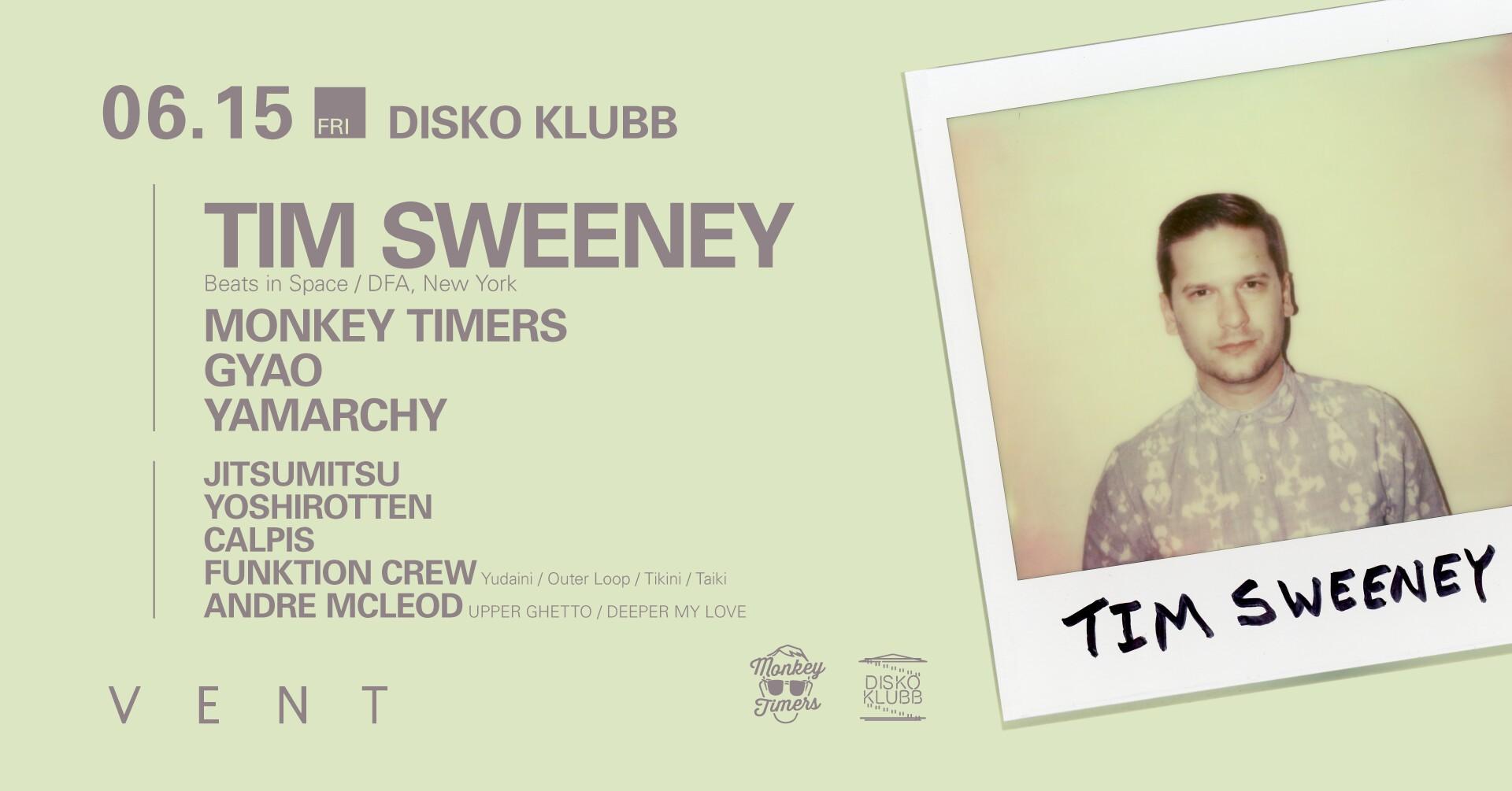 iFLYER: Tim Sweeney at DISKO KLUBB at VENT, Tokyo