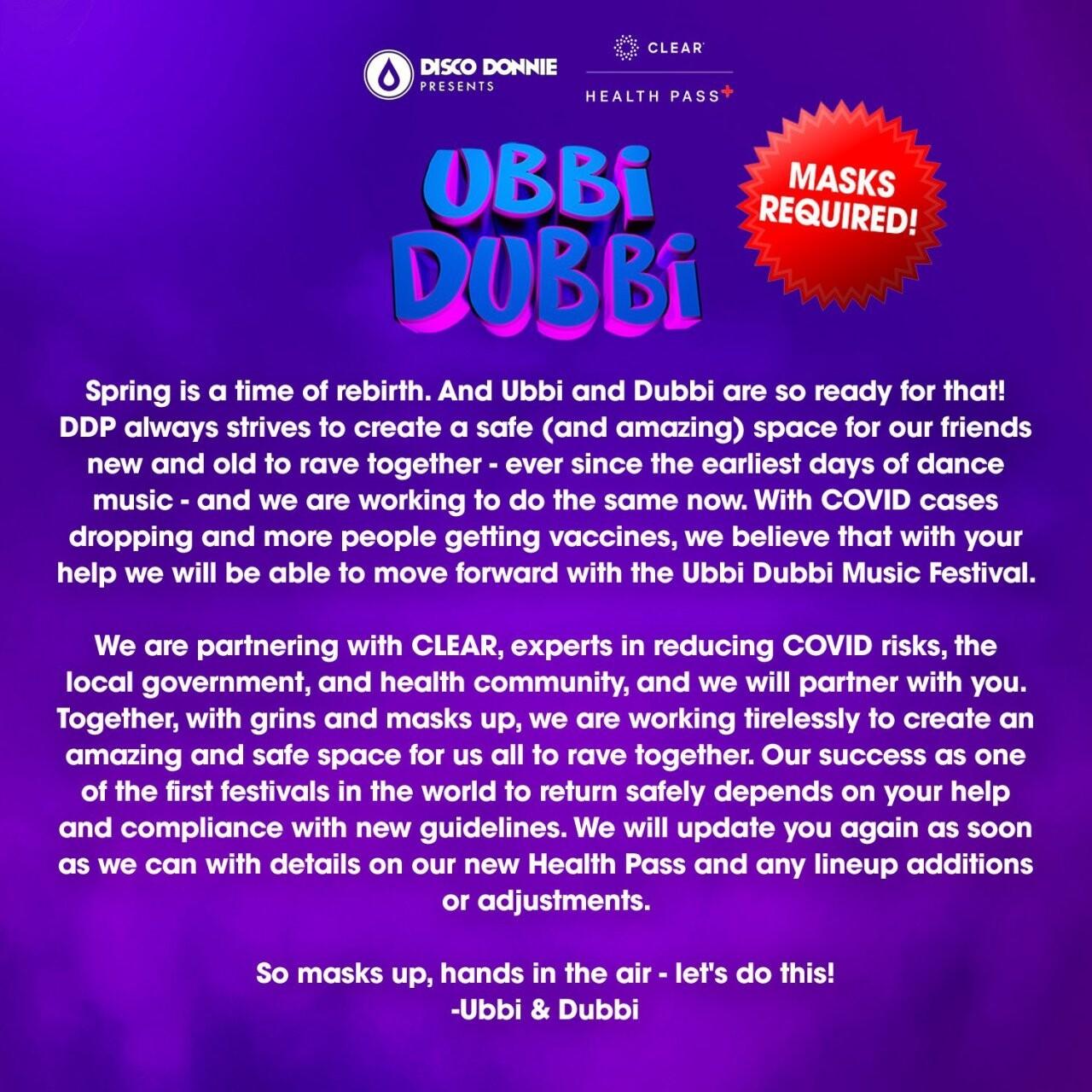 アメリカ ・テキサス州、マスク着用義務を含む新型コロナ関連の規制を全面解除! 最大限の収容人数で開催可能となった「Ubbi Dubbi Festival」の最新ガイドラインとは……!?