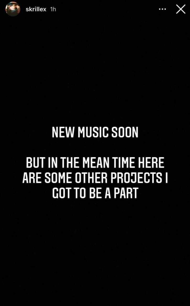 Skrillex(スクリレックス)、インスタストーリーにて新たな音楽を発表することを示唆……ファン待望のリリースなるか?